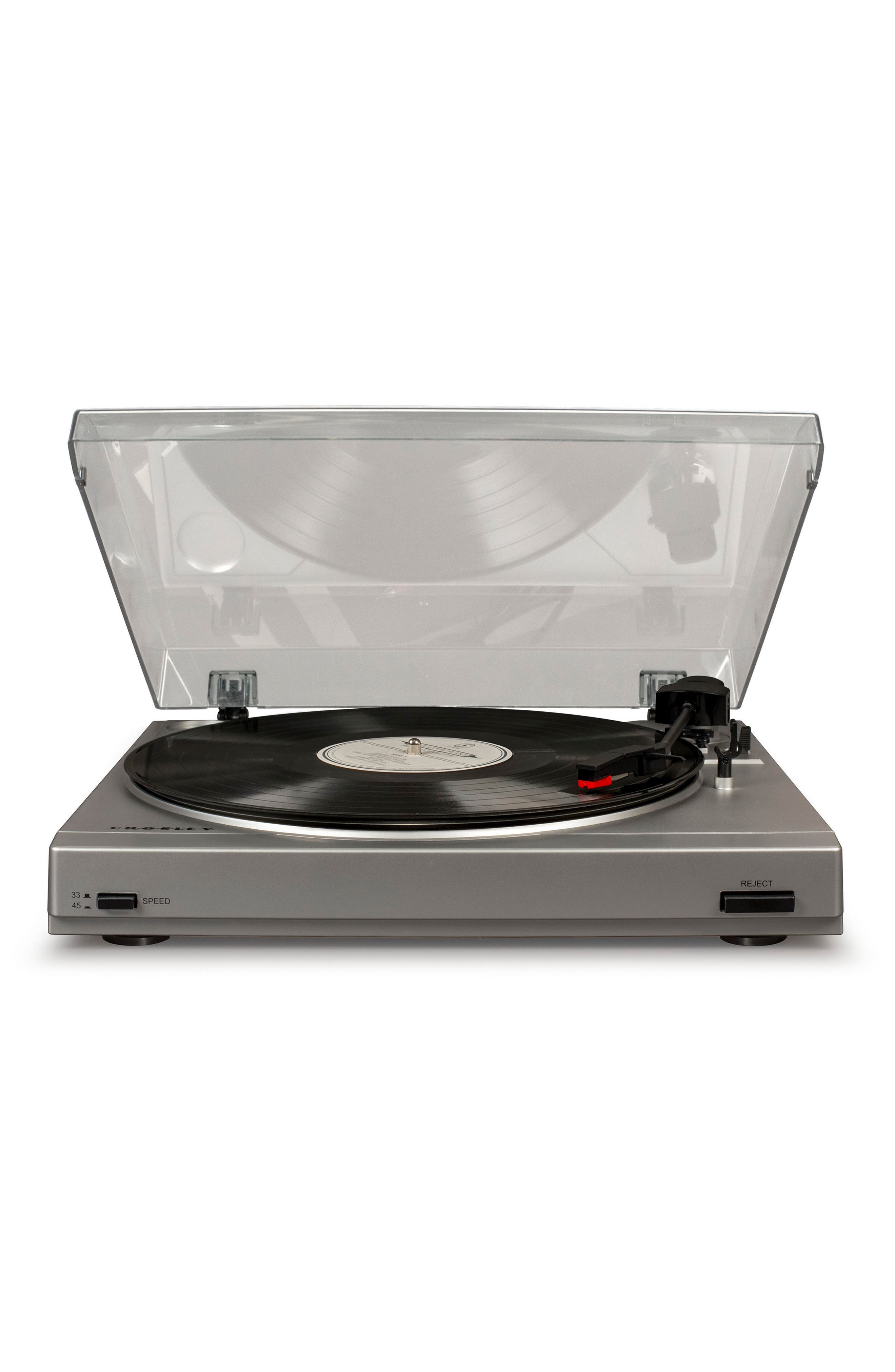 Image of Crosley Radio T200A Turntable - Silver