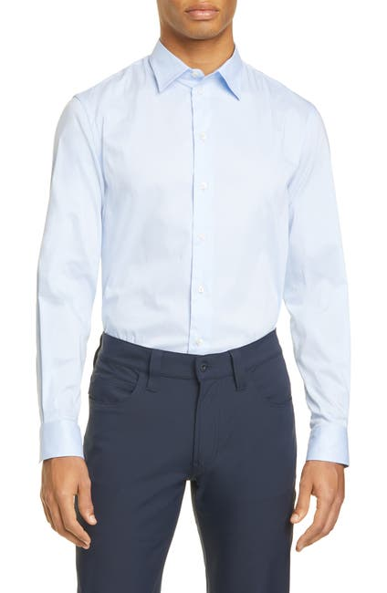 Image of Emporio Armani Slim Fit Stretch Button-Up Shirt