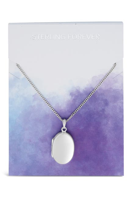 Image of Sterling Forever Sterling Silver Round Locket Pendant Necklace