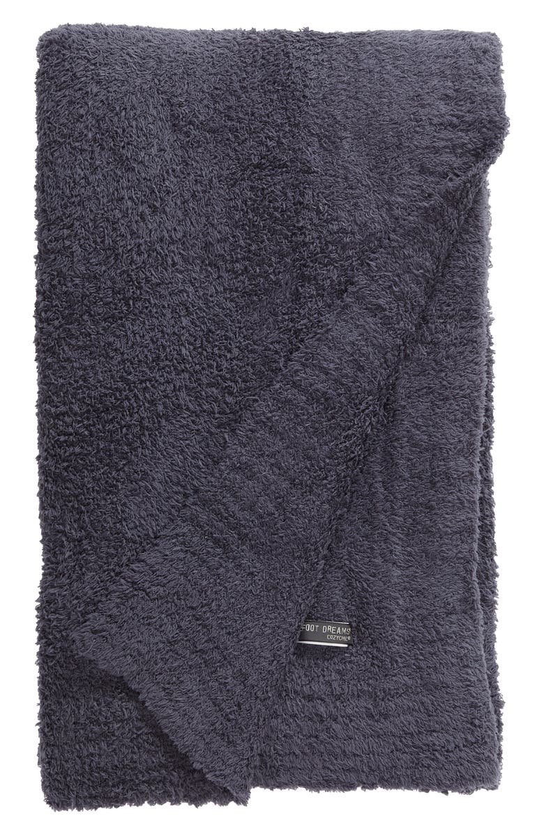 BAREFOOT DREAMS<SUP>®</SUP> CozyChic<sup>™</sup> Throw, Main, color, DEEP SEA BLUE