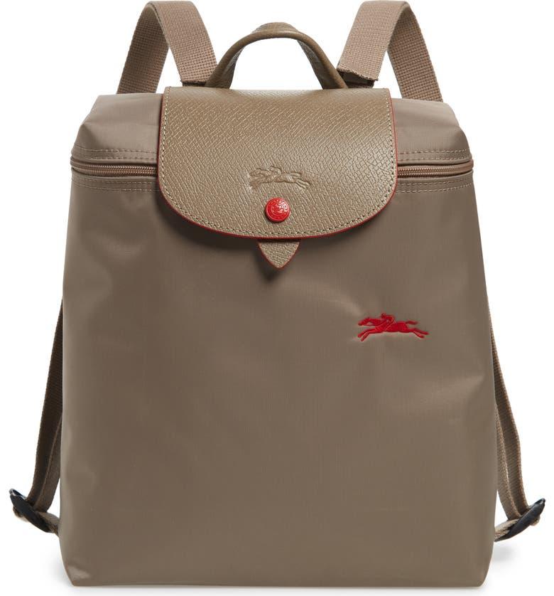LONGCHAMP Le Pliage Club Backpack, Main, color, MINK