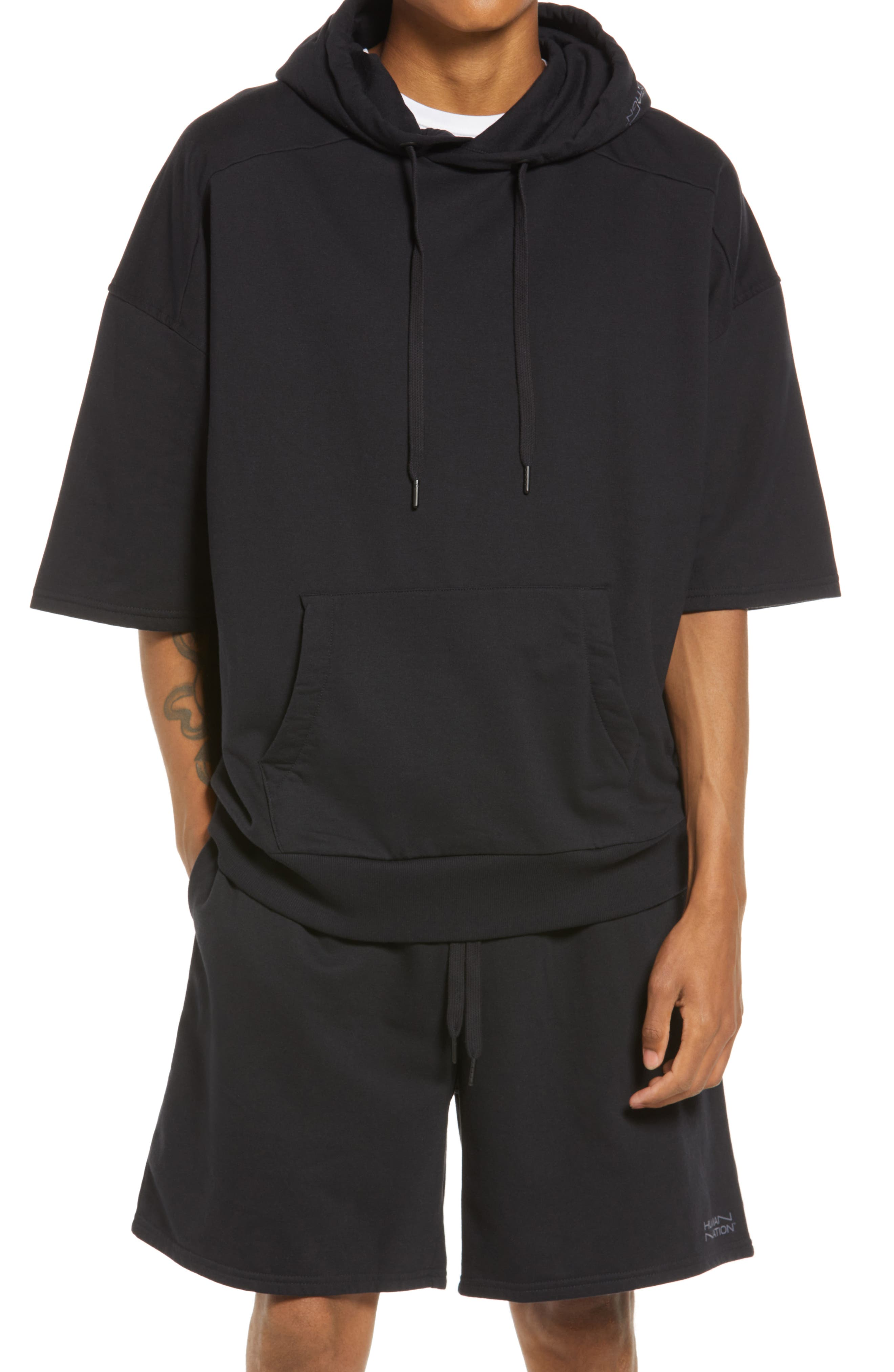 Gender Inclusive Expression Organic Cotton Blend Short Sleeve Hoodie