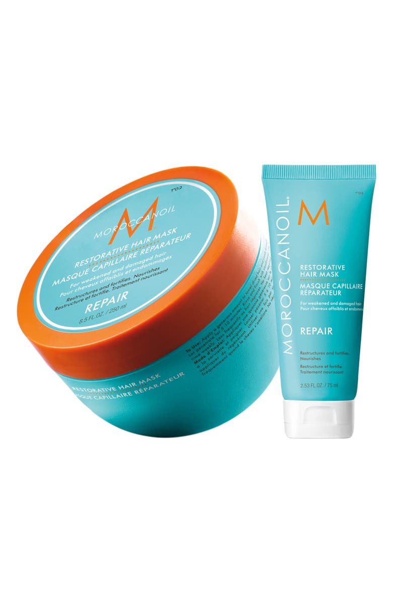 MOROCCANOIL<SUP>®</SUP> Restorative Hair Mask Home & Travel Set, Main, color, 000