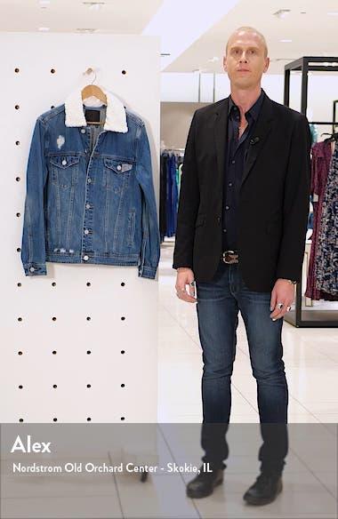Fleece Collar Denim Jacket, sales video thumbnail
