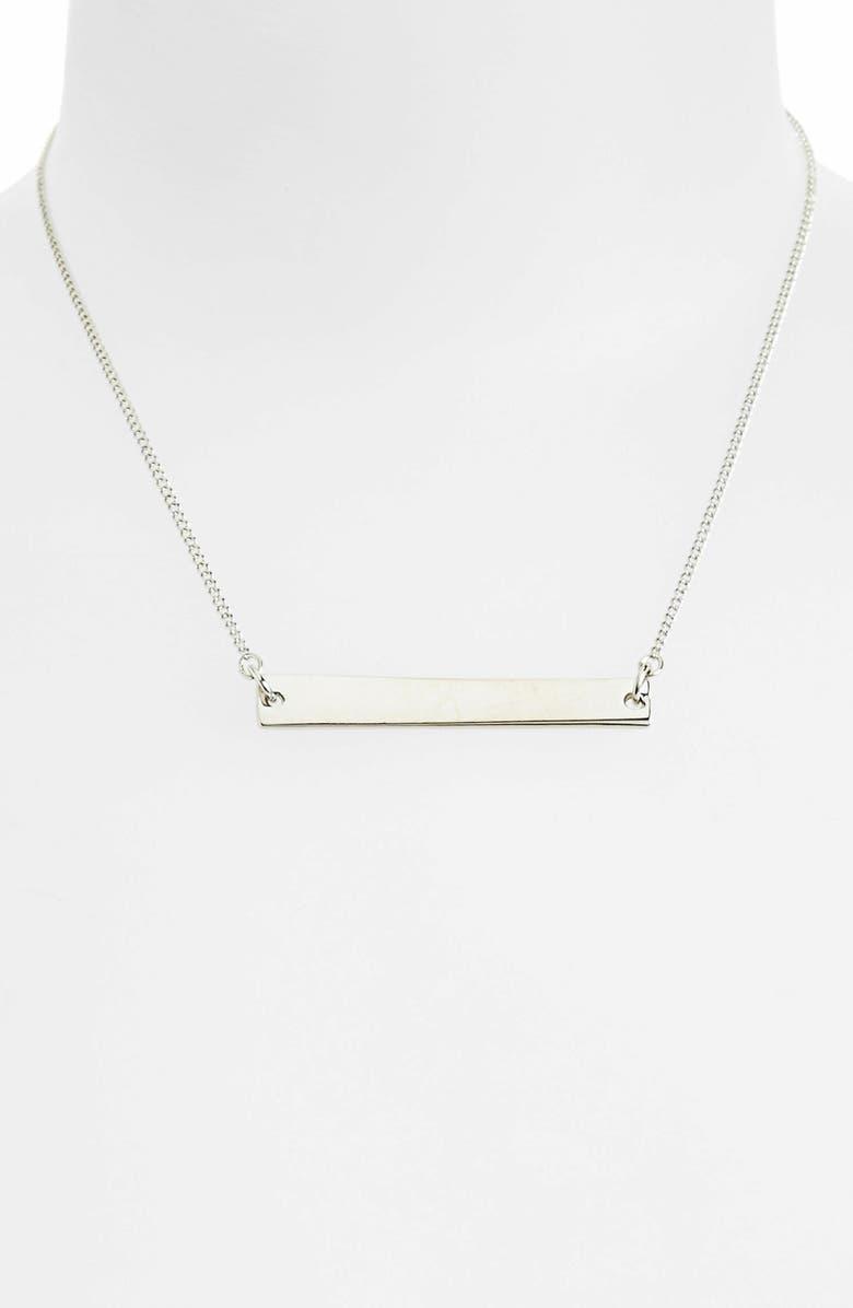 TOPSHOP 'Simple Bar' Necklace, Main, color, 040