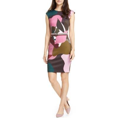 Ted Baker London Strawberry Swirl Body-Con Dress, Black