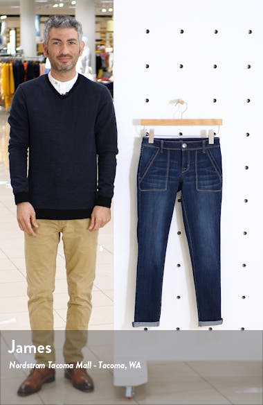 Roll Cuff Ankle Skinny Jeans, sales video thumbnail