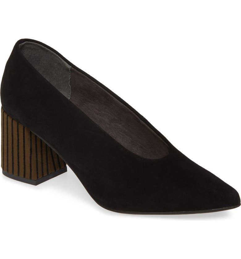 SEYCHELLES Make an Entrance Pump, Main, color, BLACK SUEDE