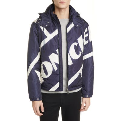 Moncler Bert Hooded Down Jacket, Blue