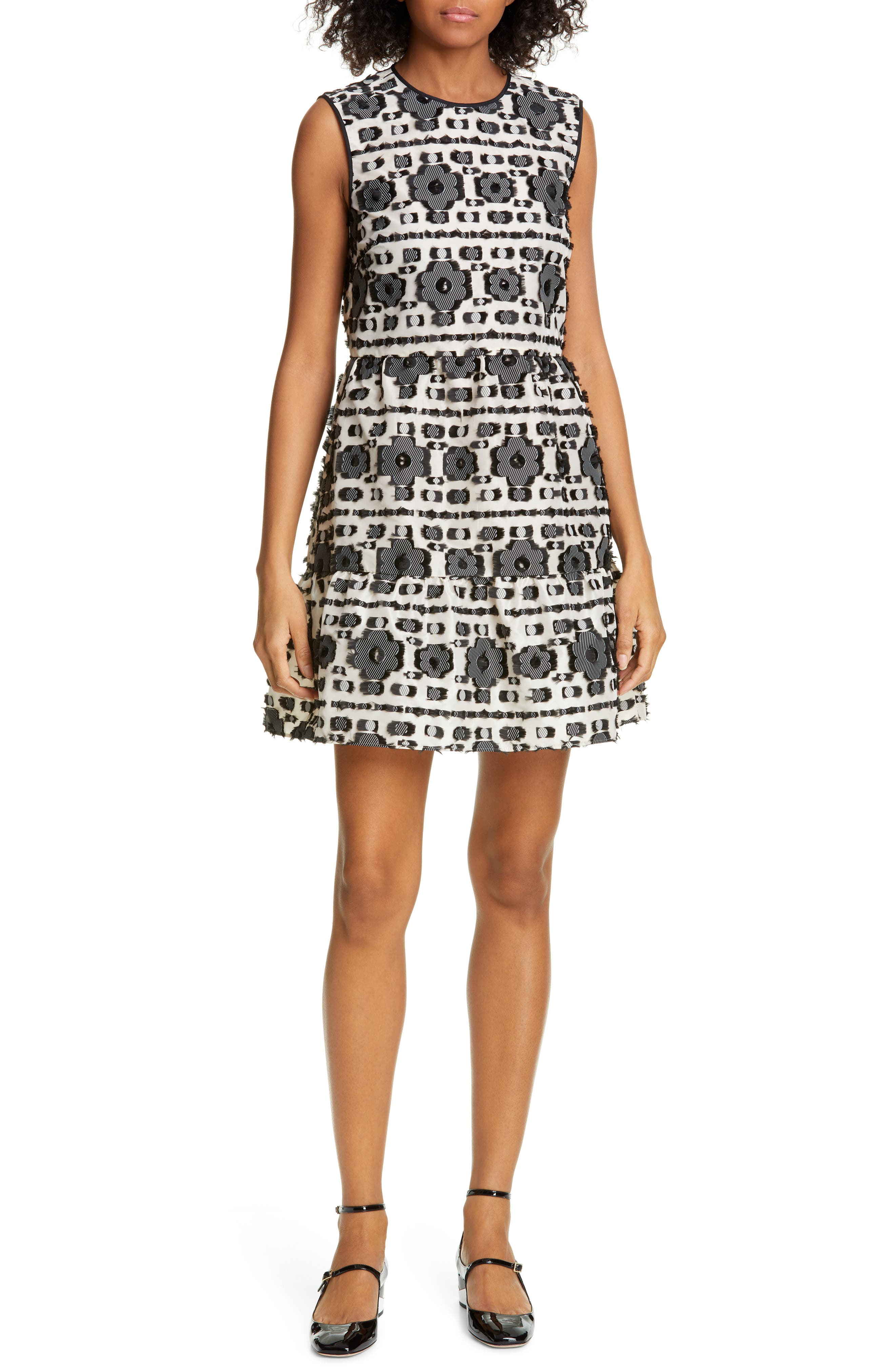 Red Valentino Fil Coupe A-Line Dress, 8 IT - Black