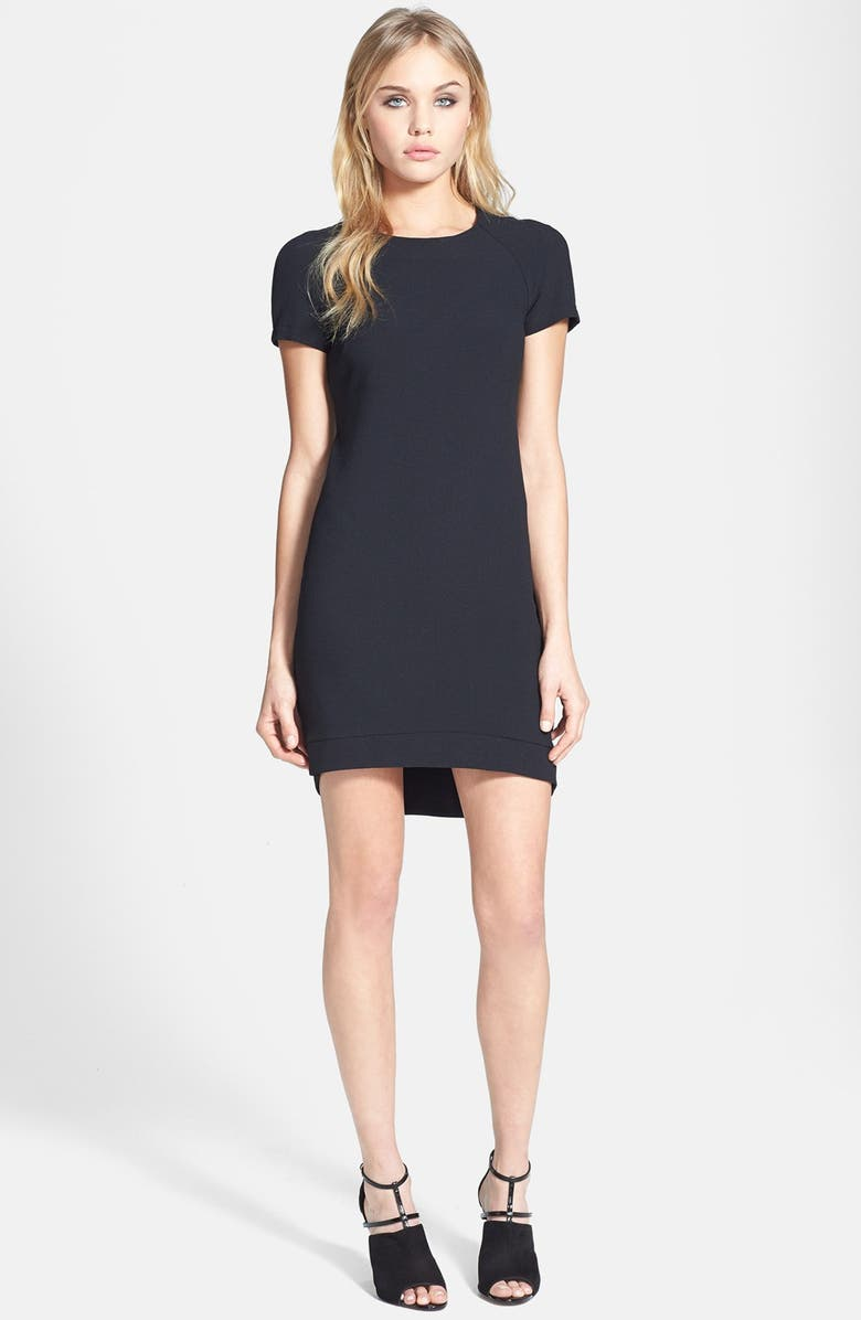 TOPSHOP Crepe Shift Dress, Main, color, 001