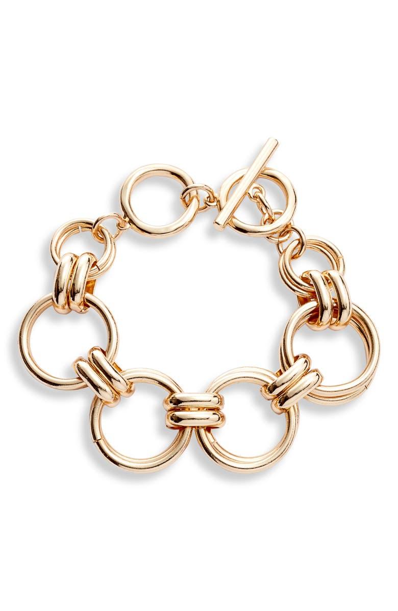 HALOGEN<SUP>®</SUP> Large Link Chain Bracelet, Main, color, 710