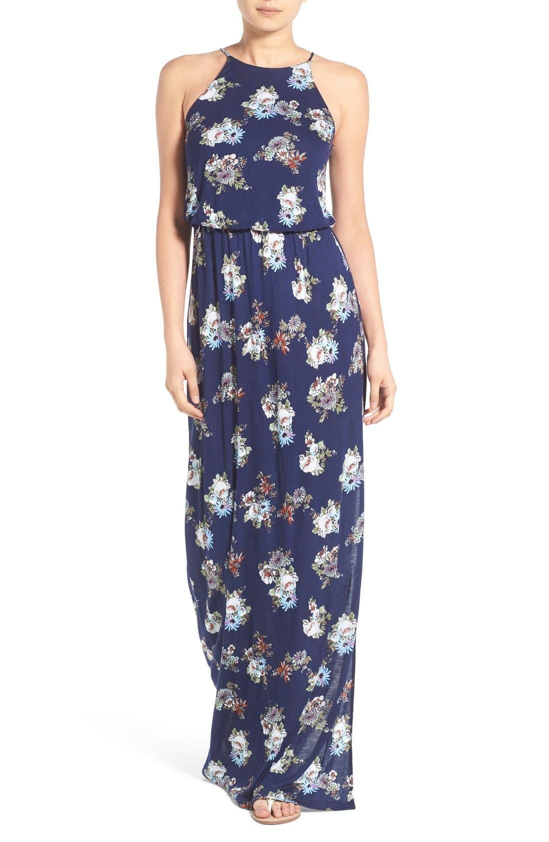 ,                             High Neck Maxi Dress,                             Main thumbnail 108, color,                             471