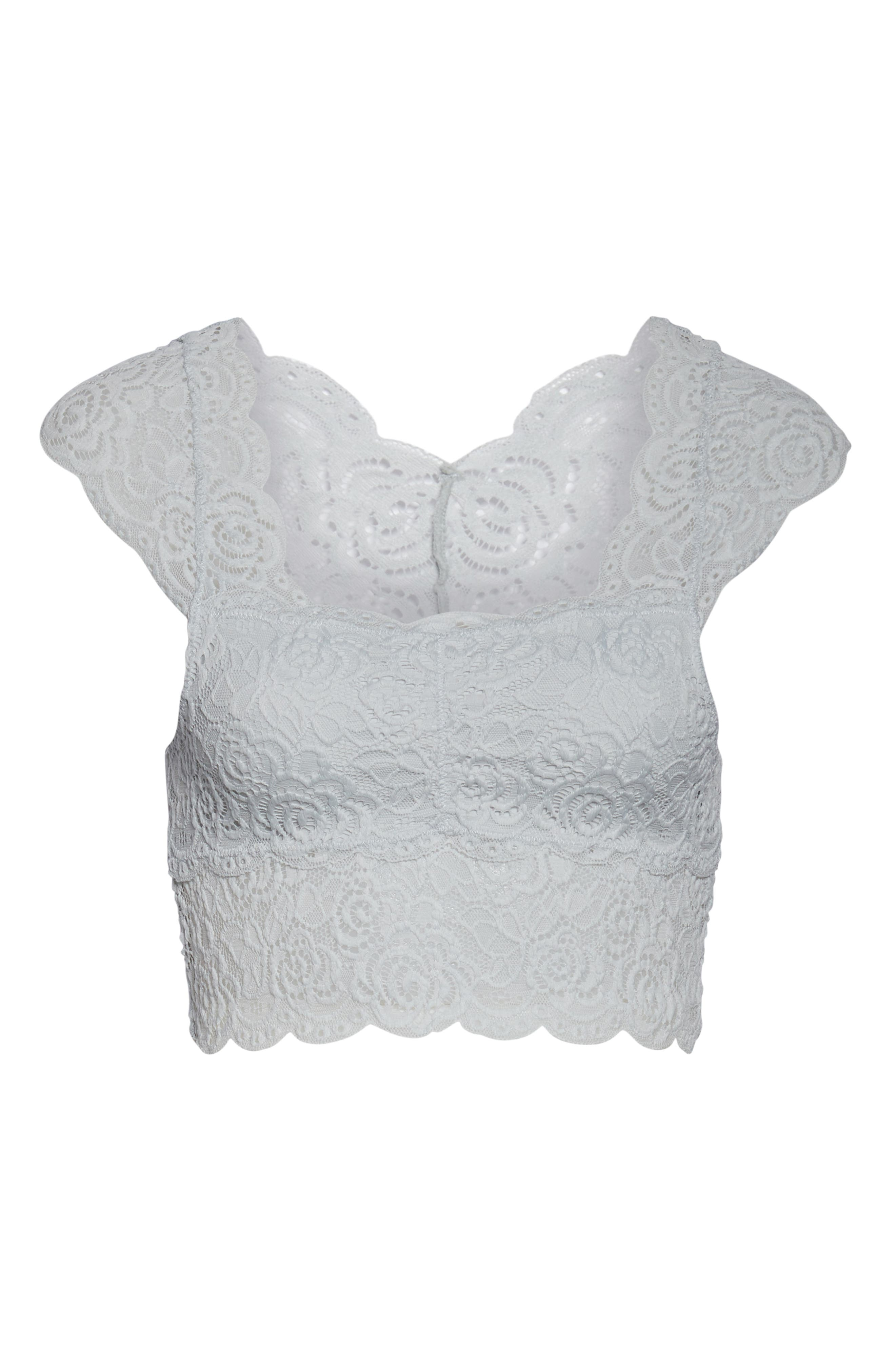 ,                             Chase Me Lace Brami Crop Top,                             Alternate thumbnail 7, color,                             SKY