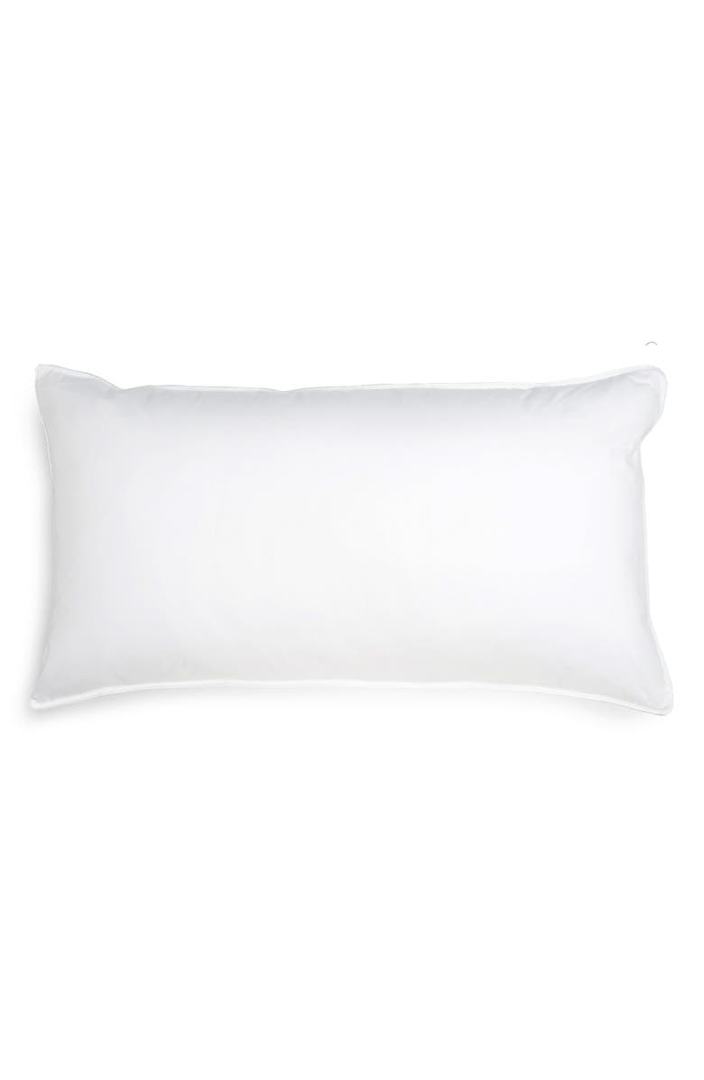 NORDSTROM Down Feather Chamber Pillow, Main, color, WHITE