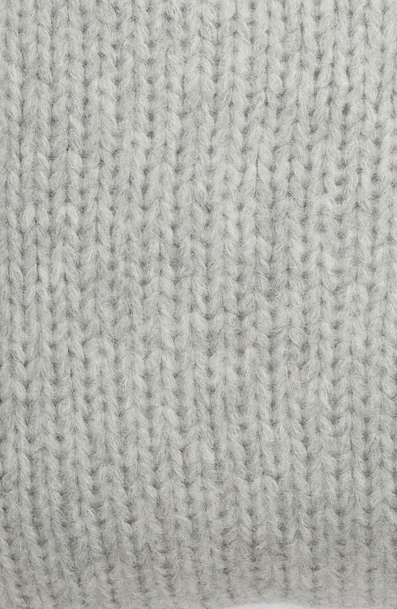 ,                             Chunky Knit Alpaca Blend Accent Pillow,                             Alternate thumbnail 3, color,                             GREY HEATHER