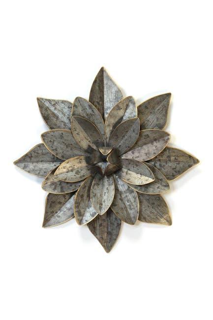 Image of Stratton Home Galvanized/Gold Layered Galvanized Metal Flower