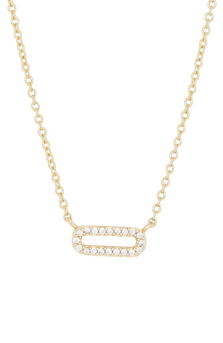 GORJANA Parker Shimmer Pendant Necklace, Main, color, WHITE CZ