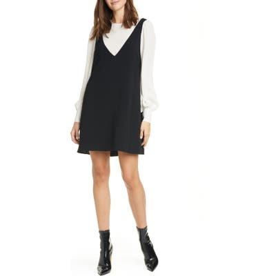 Cinq A Sept Mercer Layered Long Sleeve Dress, Black