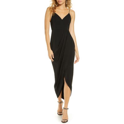 Shona Joy Tulip Hem Maxi Dress, Black