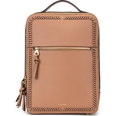 Calpak Kaya Faux Leather Laptop Backpack - Brown