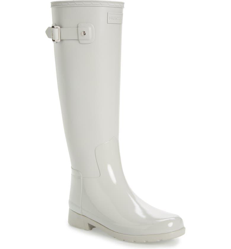 28ccde2a33a Hunter Refined Tall Matte Gloss Waterproof Rain Boot (Women) | Nordstrom