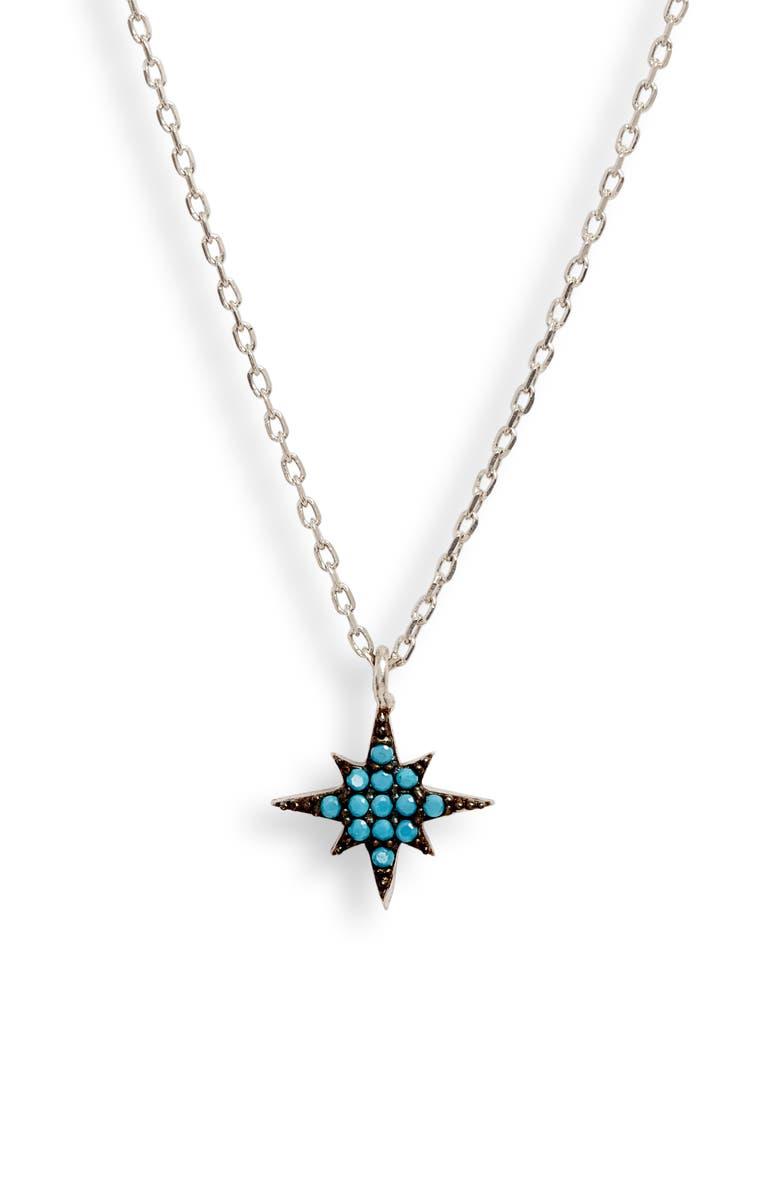 KAREN LONDON Blissful Pendant Necklace, Main, color, TURQUOISE/ SILVER