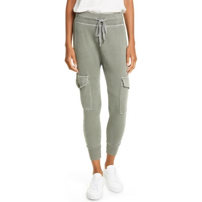 Nsf Clothing Ellie Cargo Crop Sweatpants, Size Petite - Green