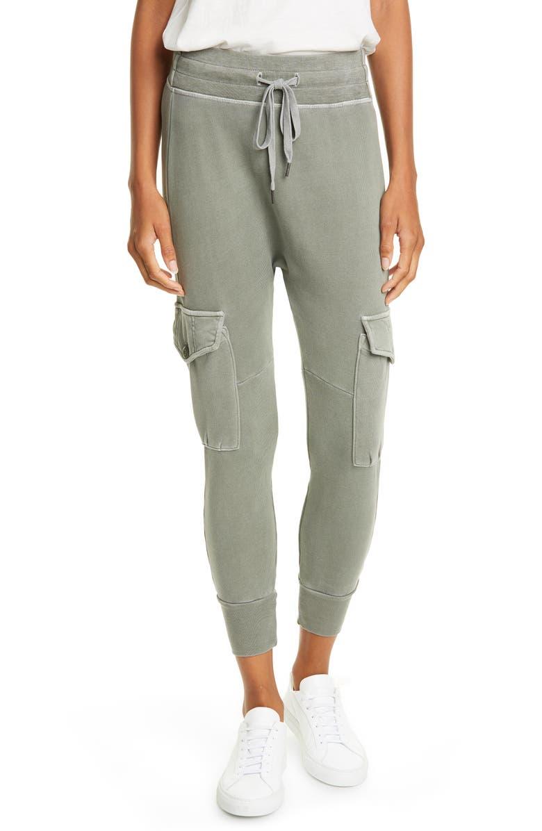 NSF CLOTHING Ellie Cargo Crop Sweatpants, Main, color, PIGMENT CARGO