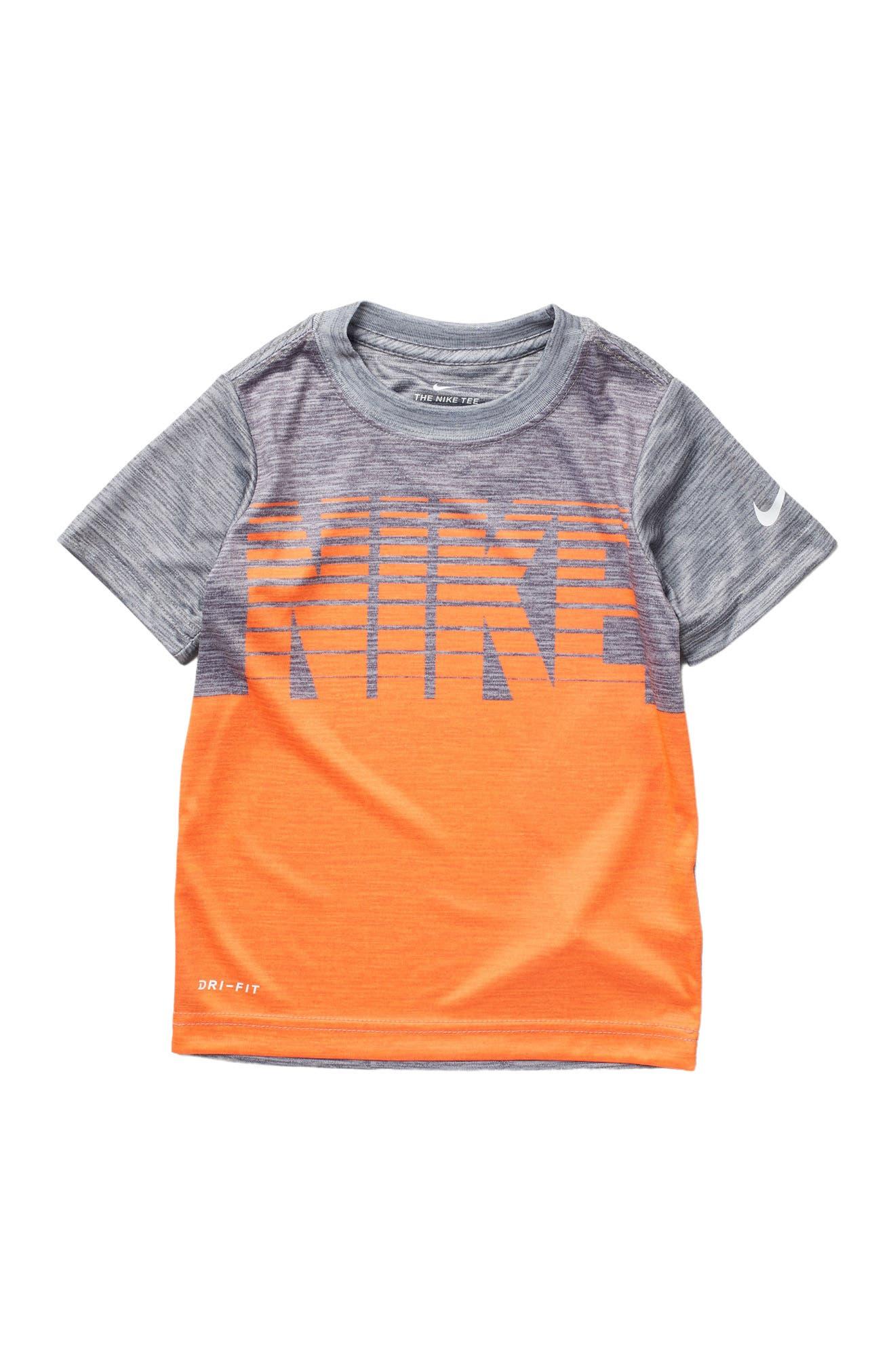 Image of Nike Block Stacked Short Sleeve Tee