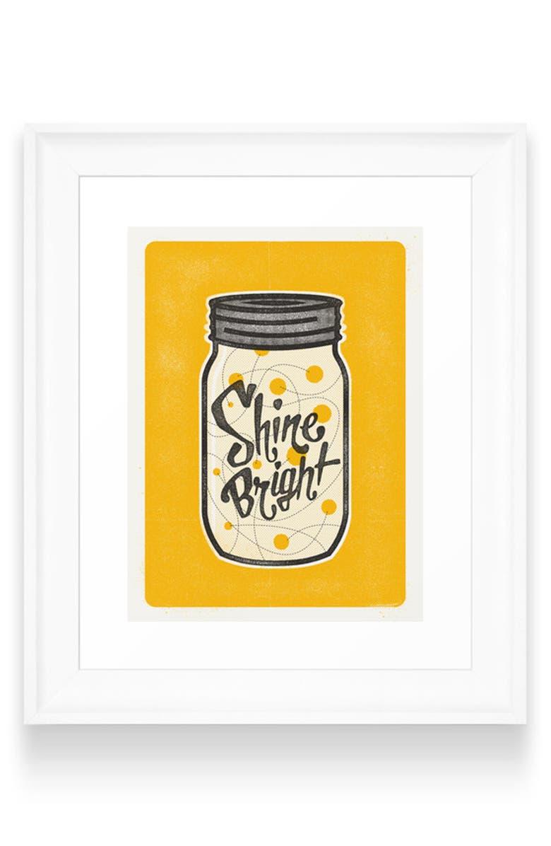 DENY DESIGNS Fireflies Art Print, Main, color, WHITE FRAME