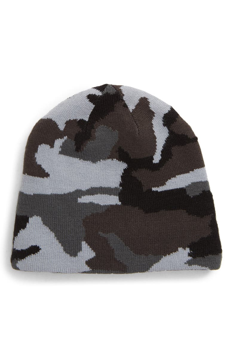 UNDER ARMOUR Billboard ColdGear<sup>®</sup> Reversible Beanie, Main, color, PITCH GREY/ BLACK/ WHITE