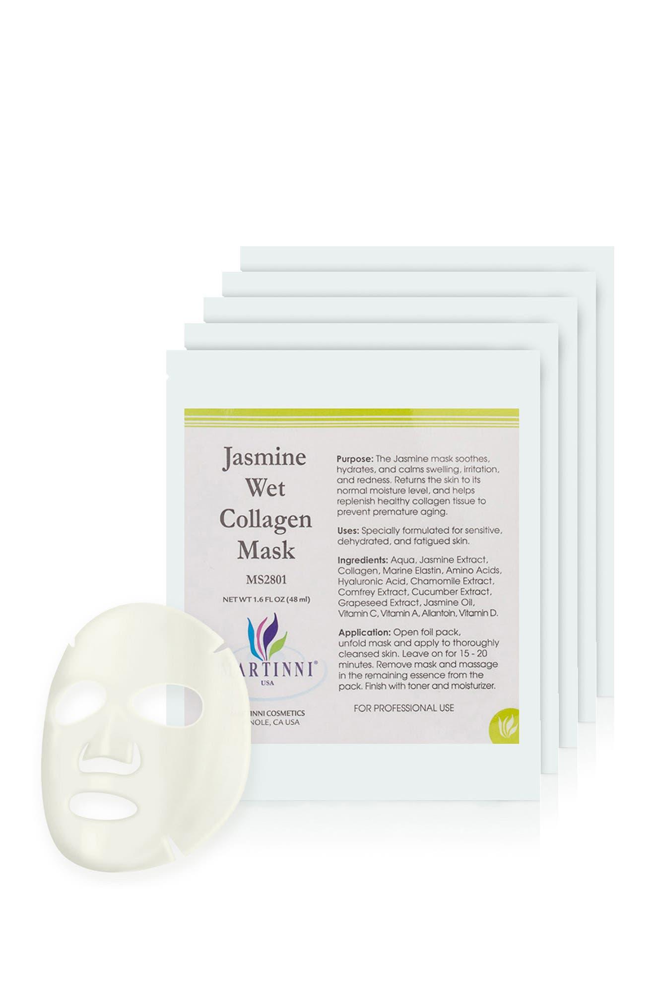 Image of MARTINNI MASKS Jasmine Wet Collagen Mask - Pack of 5