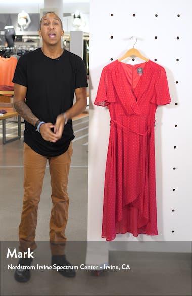 Clip Dot Faux Wrap Dress, sales video thumbnail