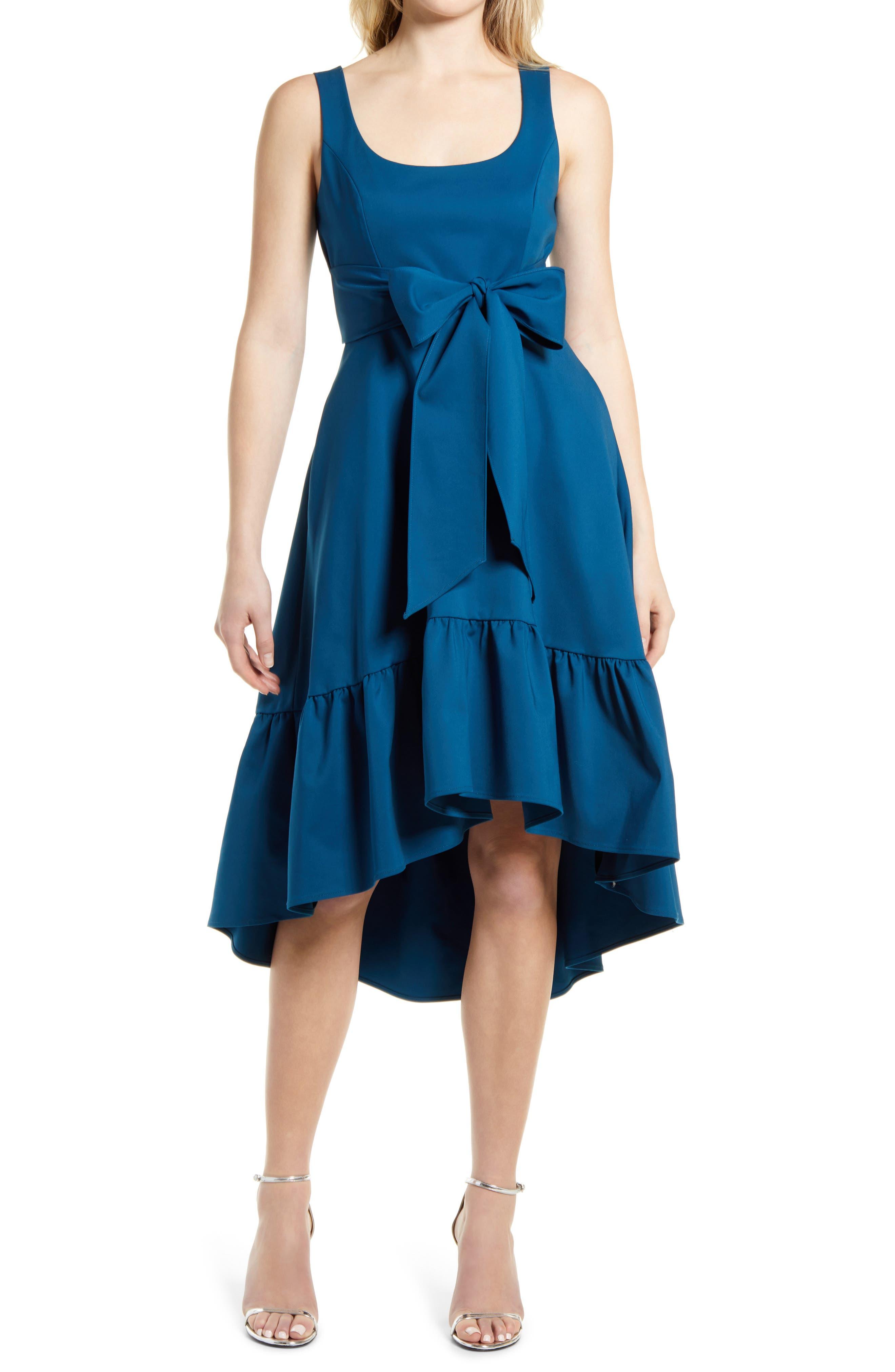 Women's Mark & James Badgley Mischka High/low Ruffle Hem Dress