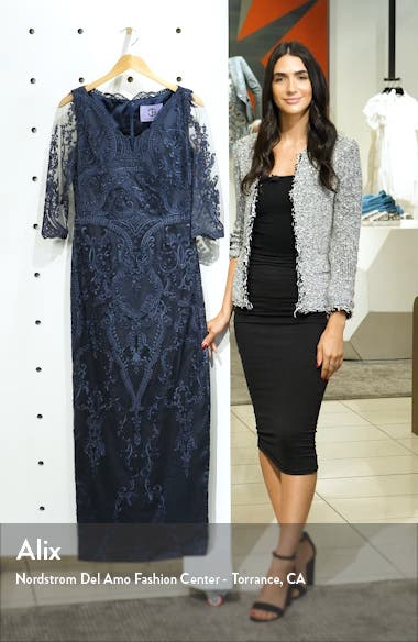 Embroidered Mesh Blouson Gown, sales video thumbnail
