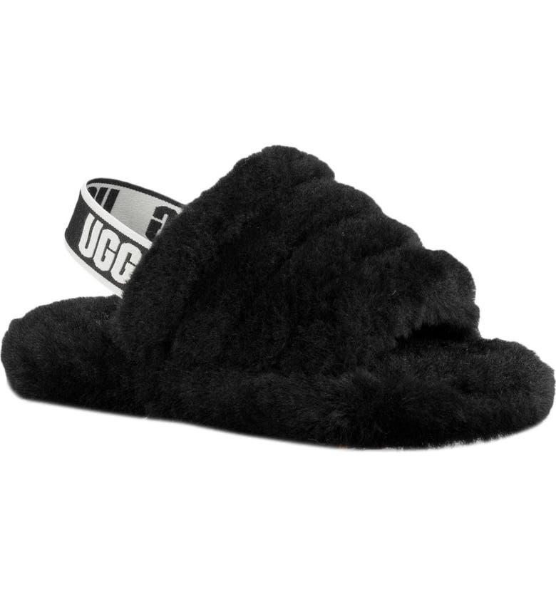 UGG<SUP>®</SUP> Fluff Yeah Slide Sandal, Main, color, 001