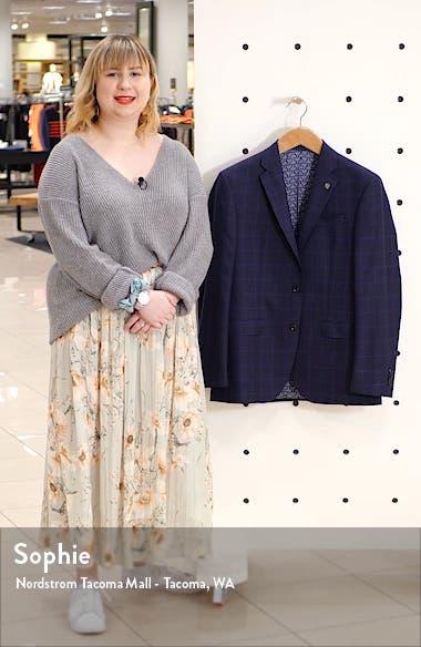Jay Windowpane Wool Sport Coat, sales video thumbnail