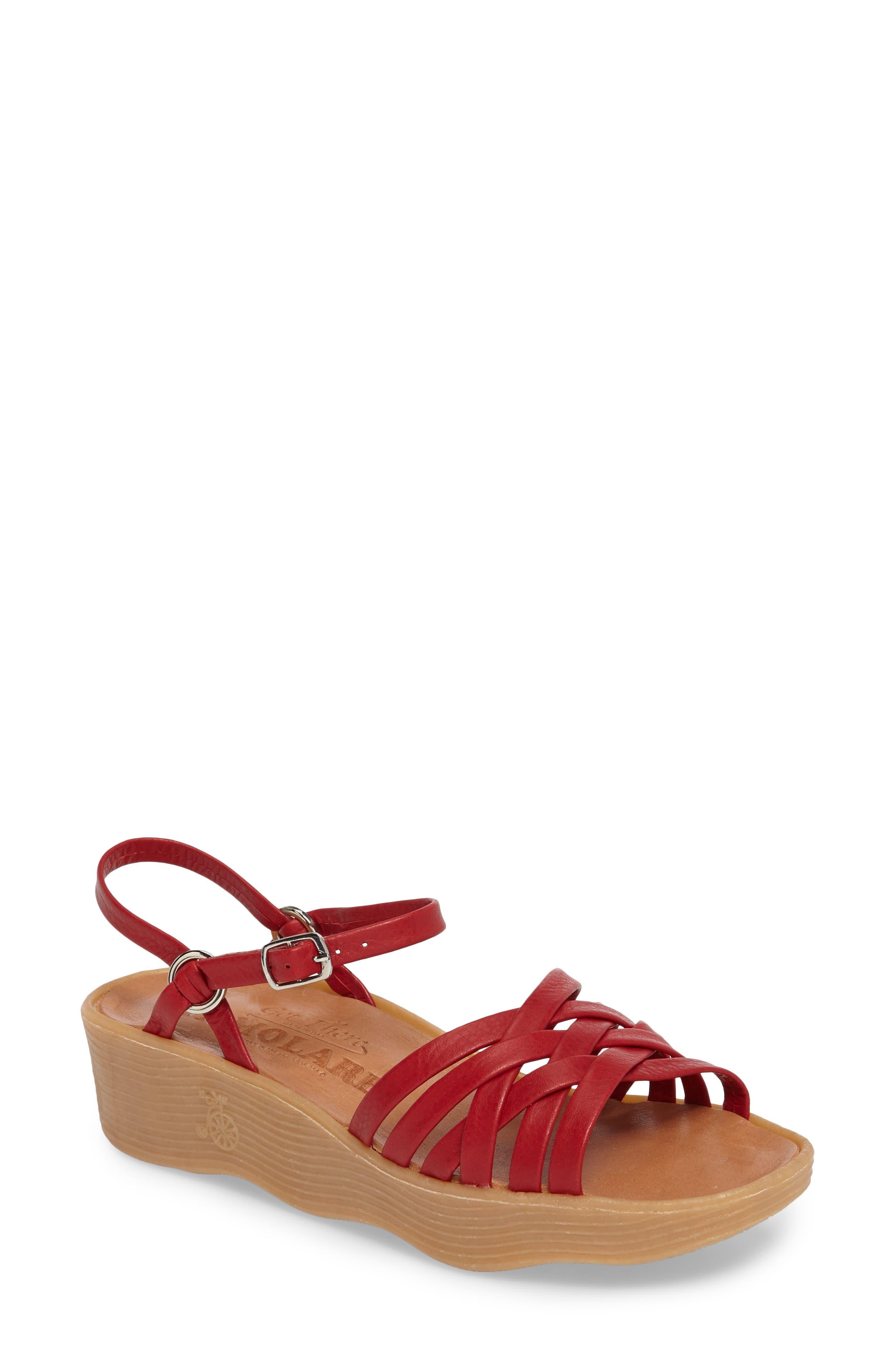 Vintage Sandal History: Retro 1920s to 1970s Sandals Womens Famolare Strappy Camper Sandal $147.95 AT vintagedancer.com