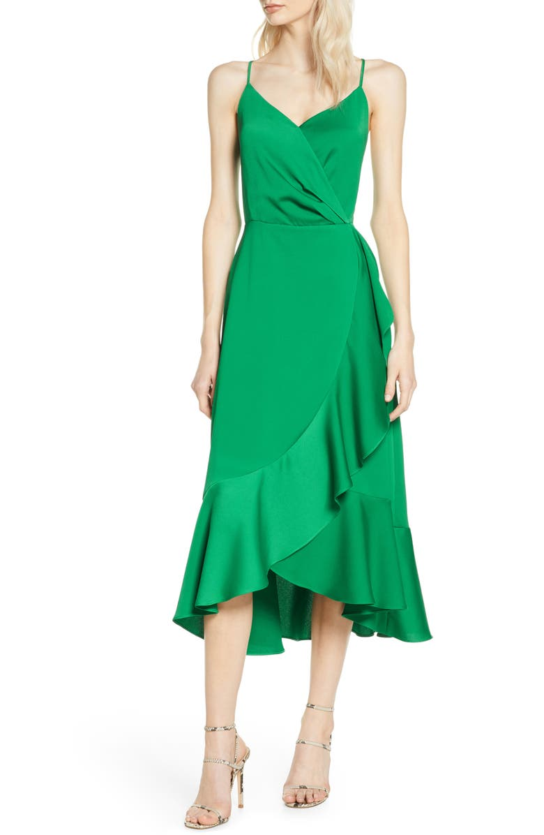 CHELSEA28 A-Line Midi Dress, Main, color, GREEN PEACOCK