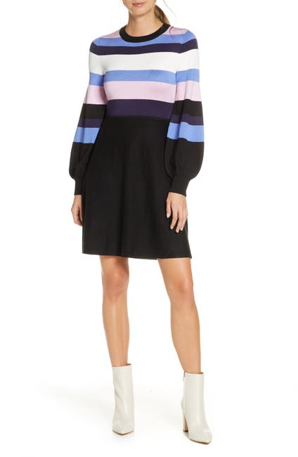 Image of Vince Camuto Balloon Sleeve Fit & Flare Sweater Dress