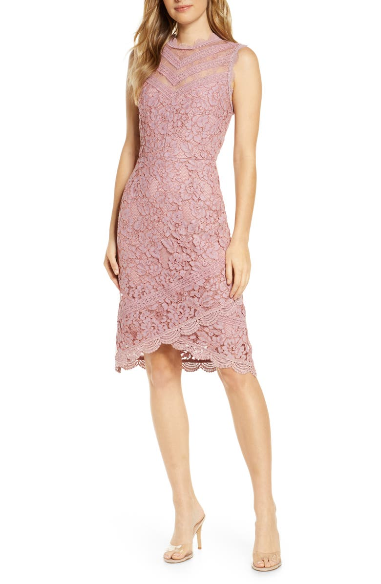 ADELYN RAE Doreen Lace Cocktail Dress, Main, color, 650