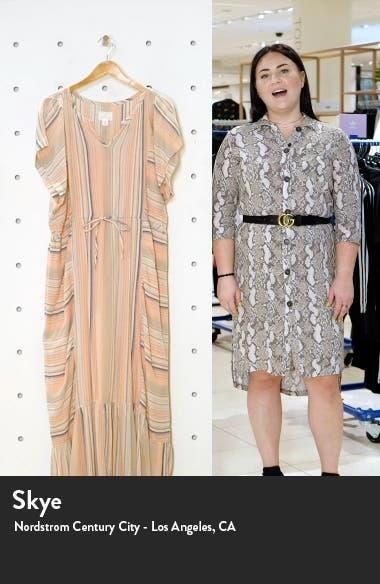 Caslon Stripe Crepe Maxi Dress, sales video thumbnail