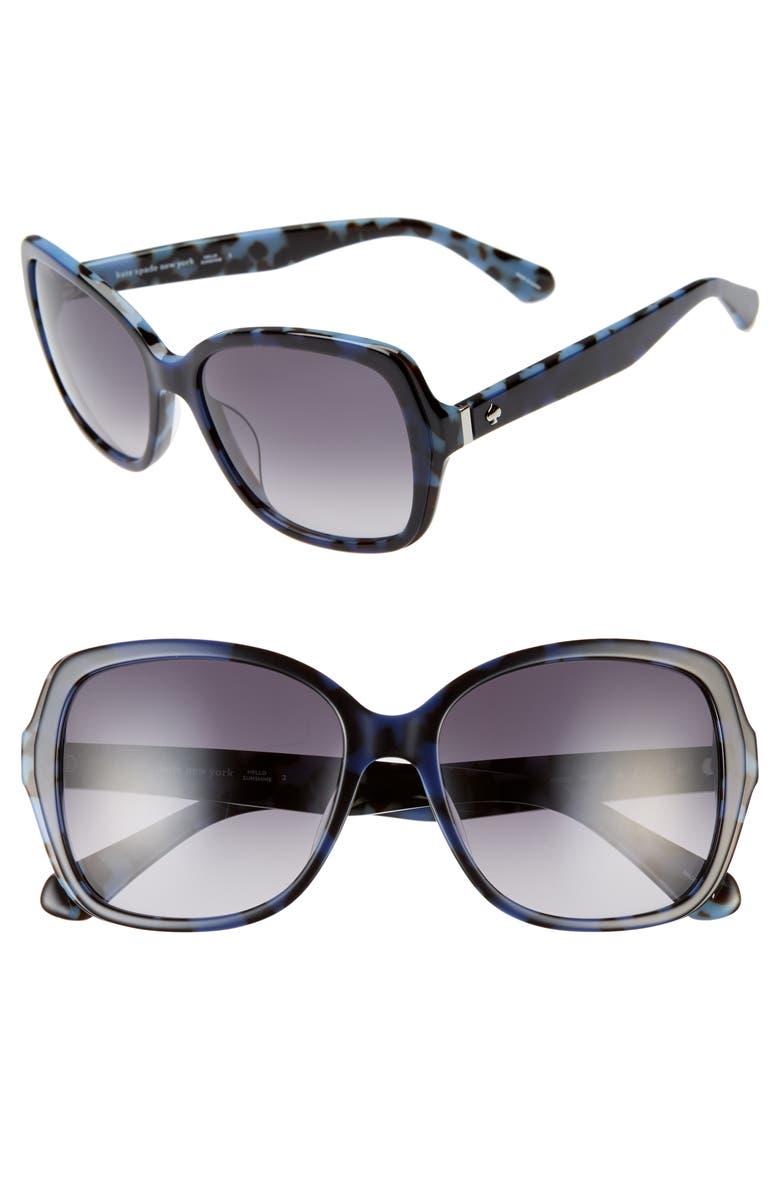 KATE SPADE NEW YORK karayln 56mm gradient sunglasses, Main, color, 401