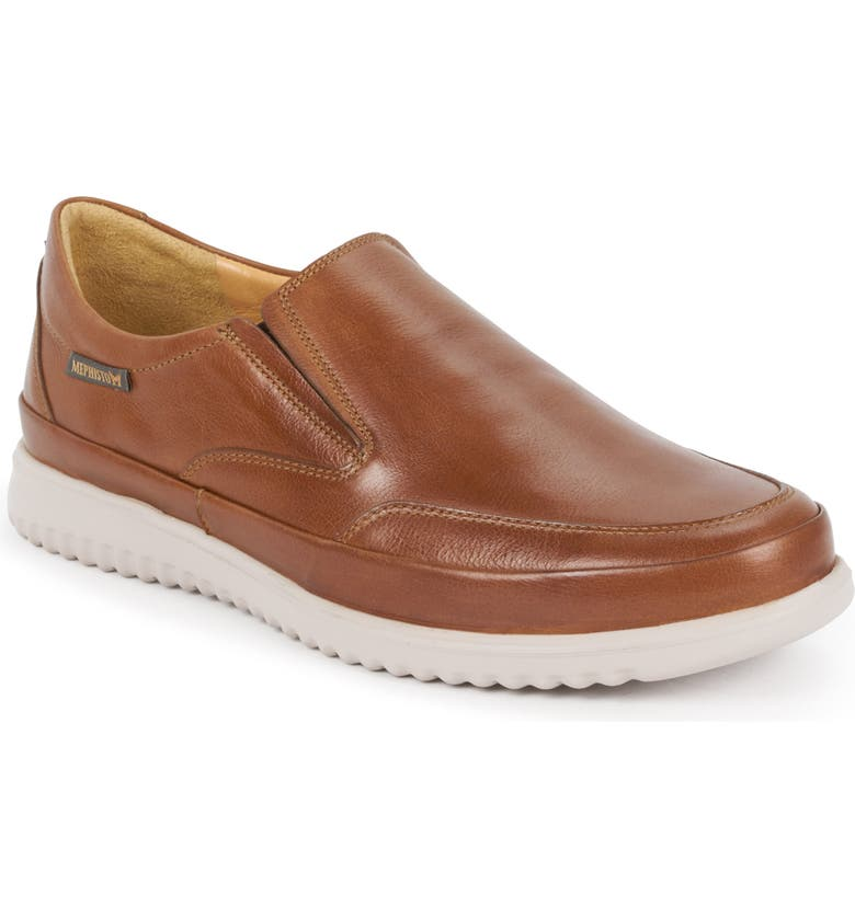 MEPHISTO Twain Slip-On, Main, color, HAZELNUT LEATHER