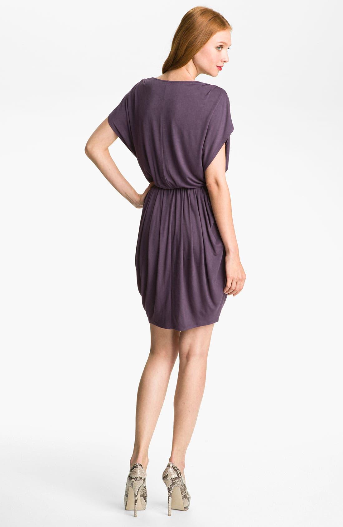,                             Faux Wrap Pleated Dress,                             Alternate thumbnail 14, color,                             500