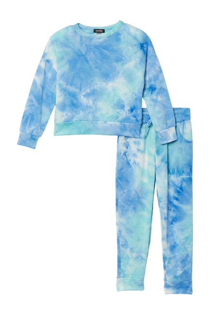 Image of Zunie Tie-Dye Pullover & Joggers Set