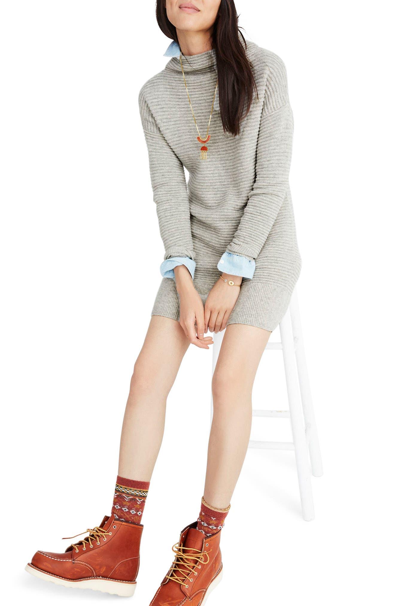 Skyscraper Merino Wool Sweater Dress, Main, color, 020