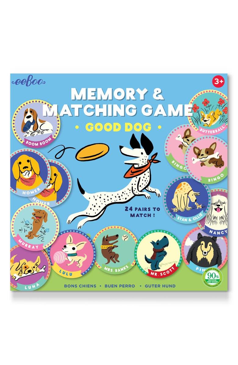 EEBOO Good Dog Memory Game, Main, color, 960