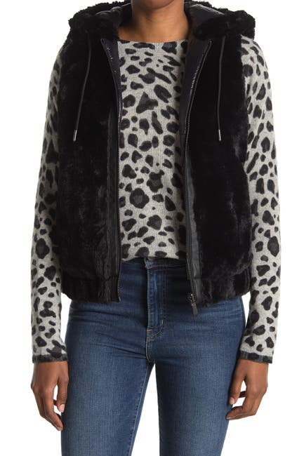 Image of BCBGeneration Faux Fur Hooded Vest